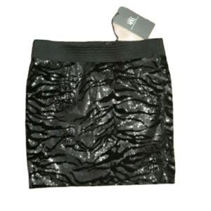 •ROCK & REPUBLIC• black sequin mini skirt